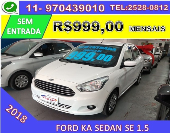 Ford Ka Sedan Se Flex 5p Aplicativo Uber / 99 Sem Entrada