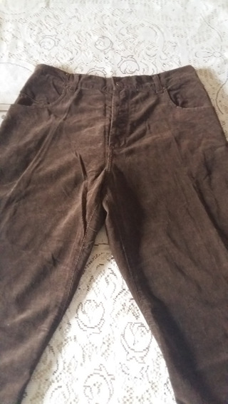 Pantalon De Corderoy Hombre Talle 44 Marron -chocolate