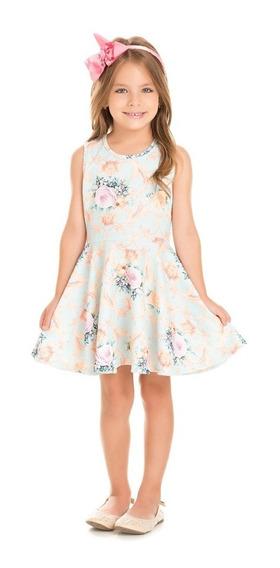Vestido Infantil Serelepe Floral Delicado 06 Anos