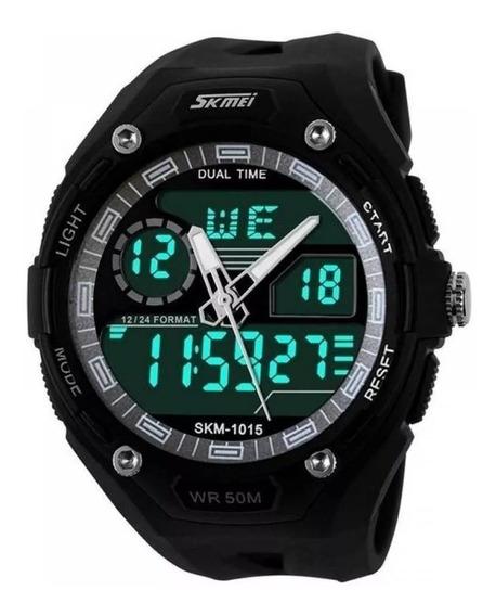 Relógio Skmei Preto Prova D`agua Digital Analógico