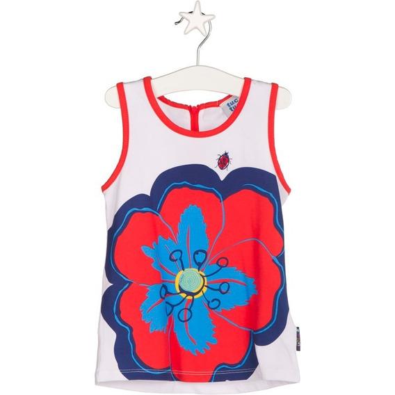 Camiseta Tirantes Playera Para Niña Sin Mangas Cuello Redond