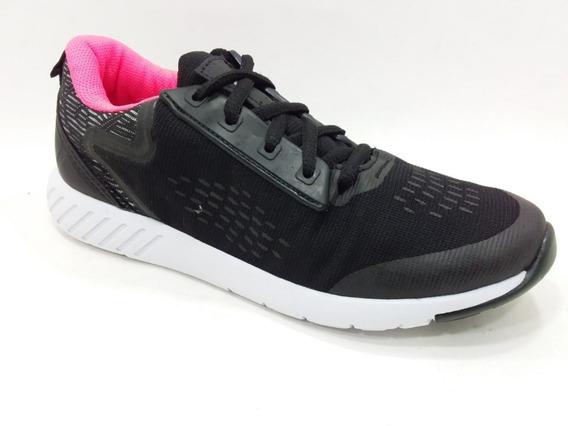 Zapatilla Gaelle Dama 230 Running Negro/rosa