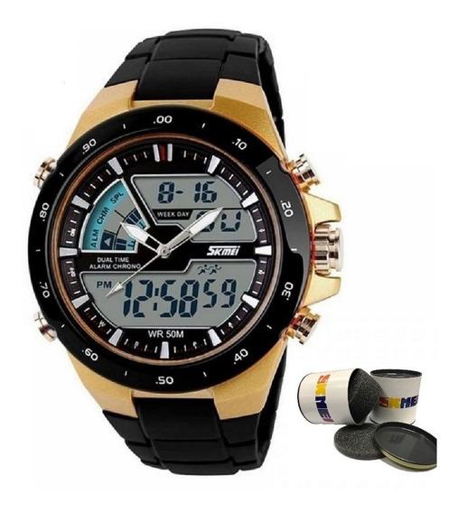Relógio Masculino Esportivo Original Prova De Agua Shock Nf
