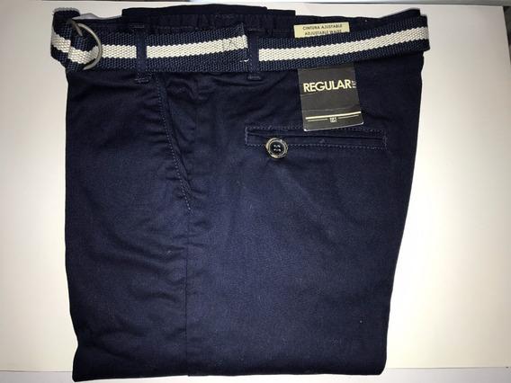 Pantalón Azul Sport Formal Con Cinturón Mayoral