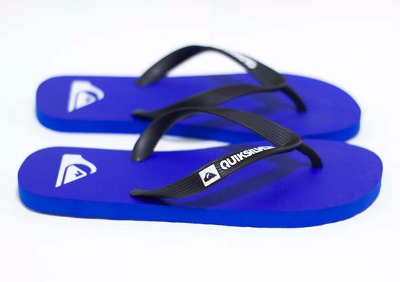 Chinelo Quiksilver Sandals Molokai Id - Black/blue/black