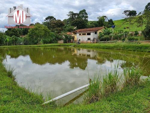Imagem 1 de 21 de Ótima Chácara Com 03 Dormitórios, Lago, Nascente, Pomar, Bem Localizada, À Venda, 4000 M² Por R$ 580.000 - Rural - Socorro/sp - Ch0869