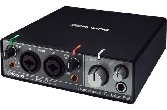 Interface De Audio Roland Rubix 22 2 Canais Usb