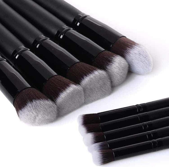 Set 10 Brochas Maquillaje Kabuki Gugus Makeup Profesional