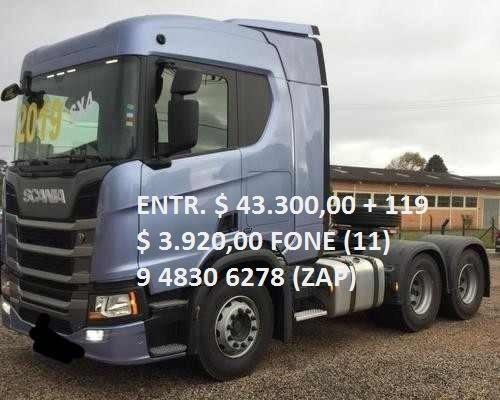 Scania R500 Teto Alto Gabinada Completa 2019/19 0km