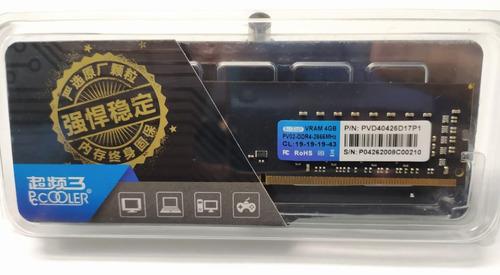 Memória Ram Ddr4 Pccooler 4gb 2666mhz (nova) - Box