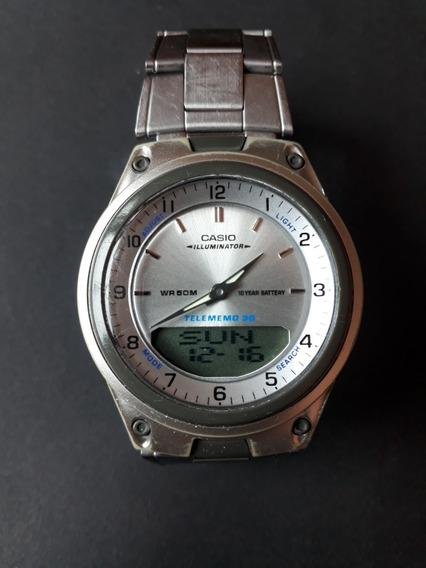 Relógio Casio Telememo Aw-80 - Usado