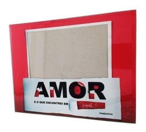 Porta Retrato Quadro Fotos Imaginarium 22x17 Amor Namorado