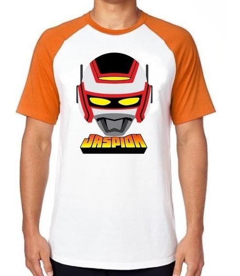 Camiseta Luxo Jaspion Máscara Super Heroi Jiban Jiraiya Robo