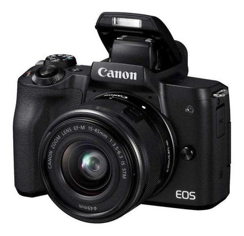 Canon EOS Kit M50 15-45mm IS STM sin espejo color  negro