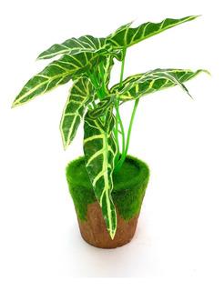 Planta Artificial Con Maceta Mod1 #90215