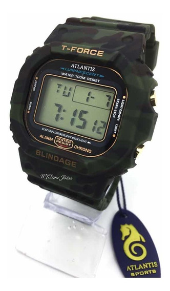 Relógio Digital Esportivo Atlantis T-fource Camuflado