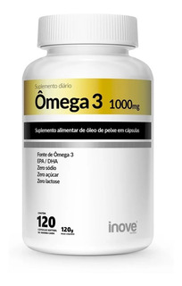Omega 3 1000mg 120 Capsulas - Inove Nutrition
