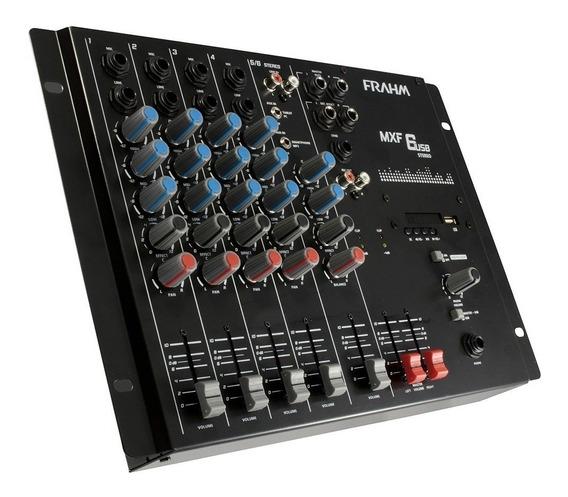 Mesa De Som 6 Canais Mxf6 Frahm Com Usb - Mixer