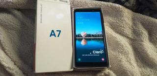 Celular Samsung A7 2018 En Buen Estado En Caja