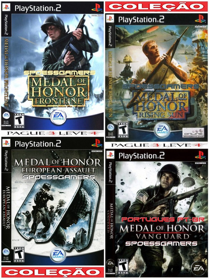 Medal Of Honor Collection (4 Jogos) Ps2 Desbloqueado Patch