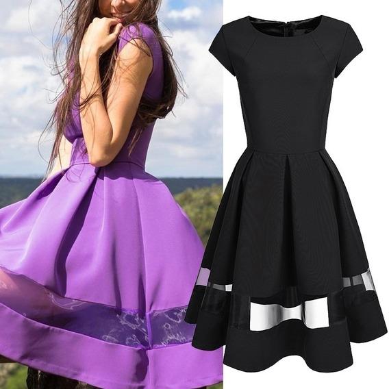 Hermoso Vestido Color Morado Lila Casual