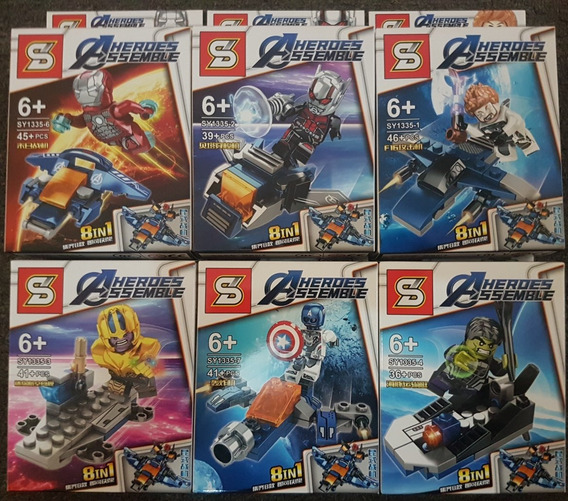 Figuras Armables Legos Batman Lego Hulk Ironman Muñecos 3un