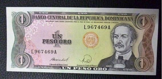 República Dominicana Billete 1 Peso Unc 1988 Pick 126 C