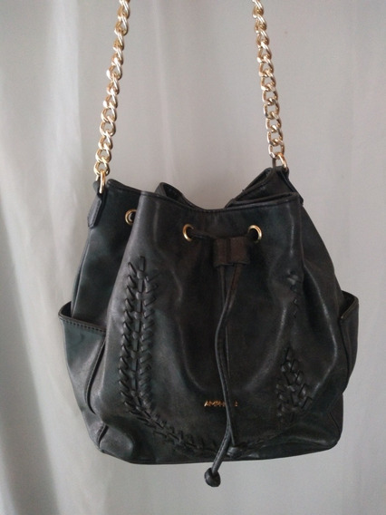 Cartera Bolso Amphora Negra Correa Con Cadena