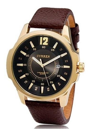 Relógio Masculino Curren 8123 1 Ano De Gar + Nfe