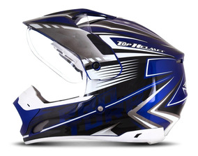 Capacete Motocross Pro Tork Th1 Adventure Azul Branco