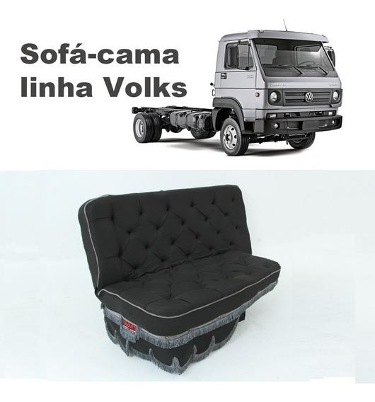 Sofá Cama Carona Caminhão Vw Volks Worker / Titan / Delivery