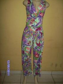 Mc004 - Macacão Floral Fluity Manequim U