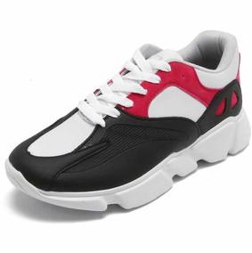 06e7797952 Tênis Dafiti Shoes Dad Sneaker Chunky Preto vermelho Feminin
