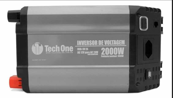 Inversor Tech One 2000w 12v Para 110v Com Usb Transformador