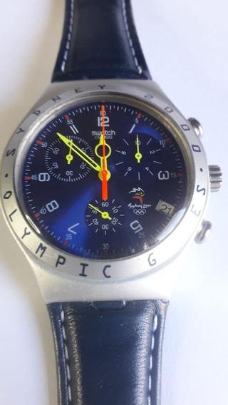 Relógio Swatch Ycs4005 Irony Chronos Olimpíadas Sydney 2000