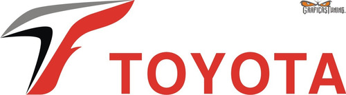 Imagen 1 de 1 de Calcomanía Toyota F1 30 X 8 Cm - Calcos Graficastuning