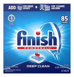 Set De 85 Tabletas De Detergente Para Lavavajillas Finish