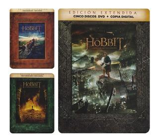El Hobbit Trilogia Edicion Extendida Peliculas Dvd + Dc