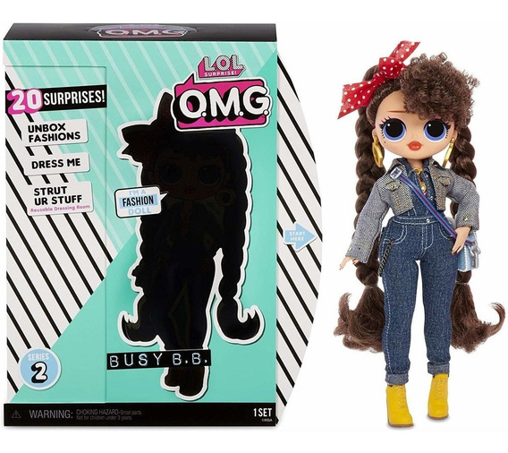 Boneca Lol Surprise Omg Série 2 Fashion Doll 20 Surpresas