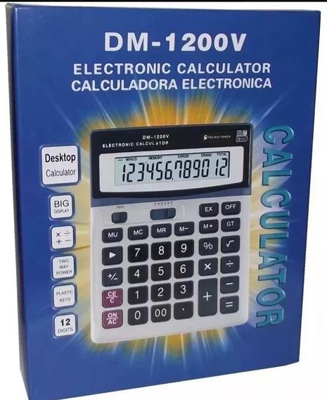 Calculadora Tipo Casio Solar Y Pilas 12 Dig Dm 1200v