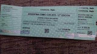 Entradas Comiccon 2019 (sabado 7) X3