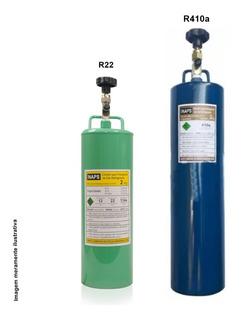 Cilindro Garrafa Transporte Gas Refrigerante R410a E R22 2kg