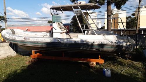Imagem 1 de 10 de Bote Flexboat Sr 760 - 2 Motores Diesel 120 Hp - Repasse