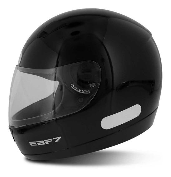 Capacete Fechado Moto Ebf 7 Solid Preto Brilhante Masculino