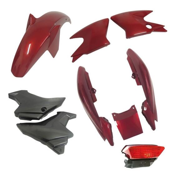 Kit Carenagem Com Lanterna Ybr Factor 125 Ano 2009 A 2012