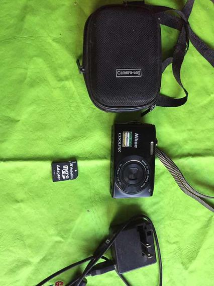 Cámara Digital Nikon Coolpix 16mp Con Funda Y Tarjeta 8gb