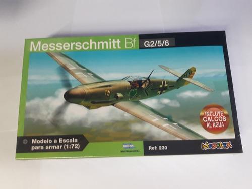 Avion Messerschmitt G2/5/6 1/72 Modelex Ind. Arg.