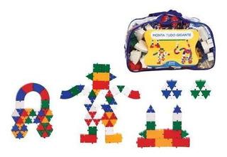Brinquedo Pedagógico Peças Encaixe Monta Tudo Gigante 200 Un