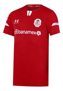 Jersey Under Armour Futbol Toluca Local Fan 19/20 Rojo
