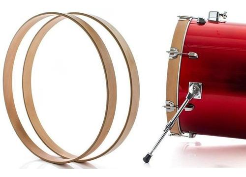 Aros De Madeira Para Bumbo 22  Edbatuk Drums Com Borracha